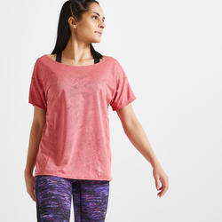 500 Women's Fitness Cardio Training T-Shirt - Pink