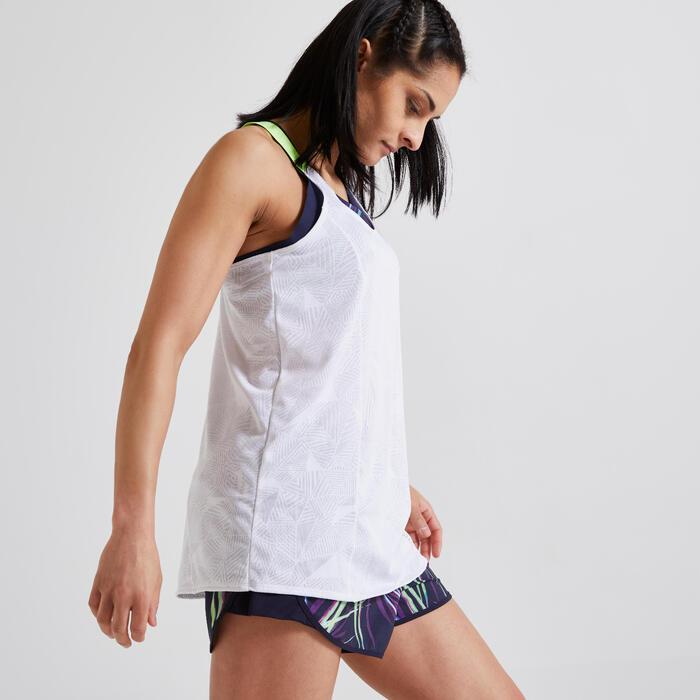 Fitnesstop voor cardiotraining voor dames wit 500