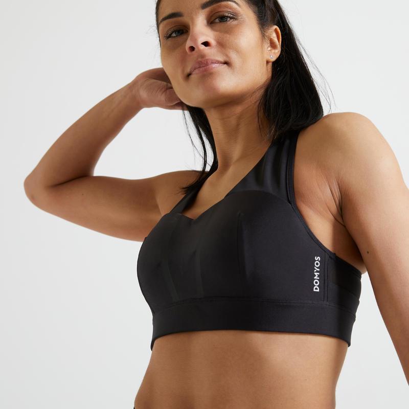 500 Women's Fitness Cardio Training Sports Bra - Black