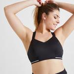 Domyos Sportbeha voor cardiofitness 500 zwart