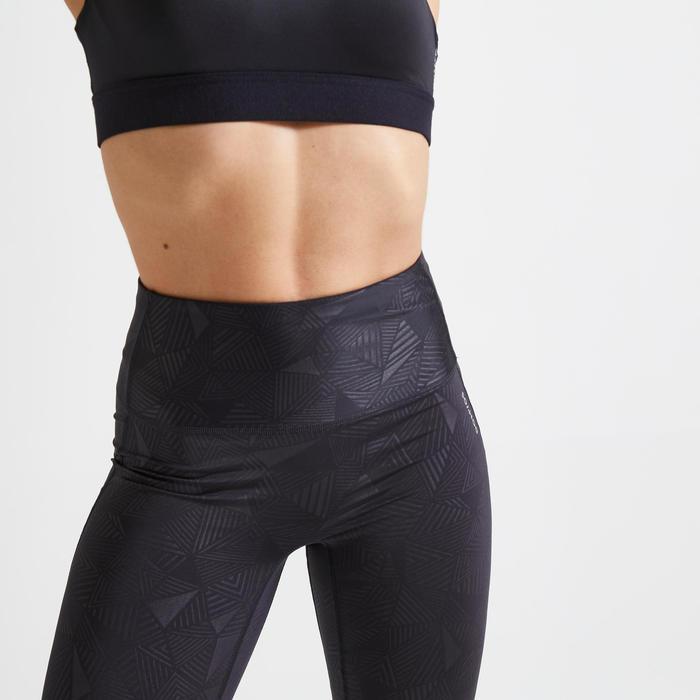Legging taille haute Fitness court et gainant noir