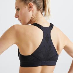 Brassière fitness cardio training femme noire 920