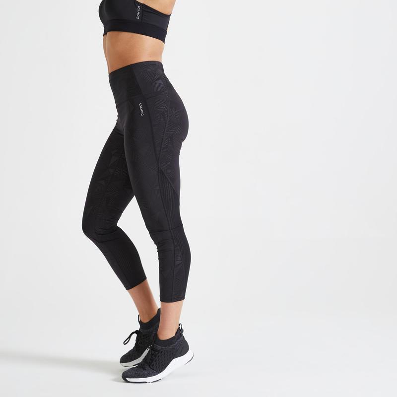 Leggings 7/8 modellanti donna fitness 500
