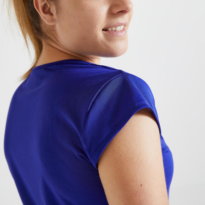 T-shirt Slim Cardio Training Mulher Azul
