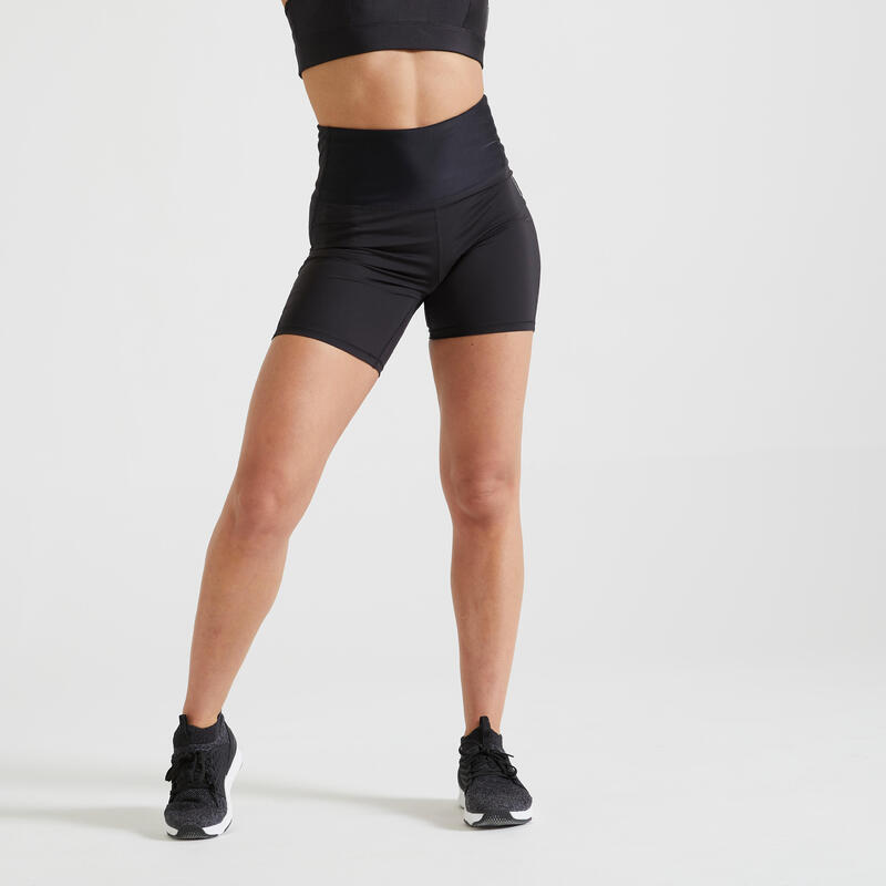 500 Women's Fitness Cardio Training Shorts - Black