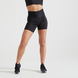 Fitnessshort voor cardiotraining dames 500 zwart