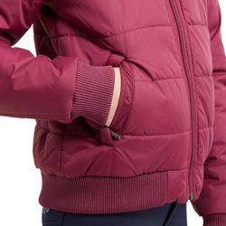 Blouson chaud équitation enfant 500 WARM prune
