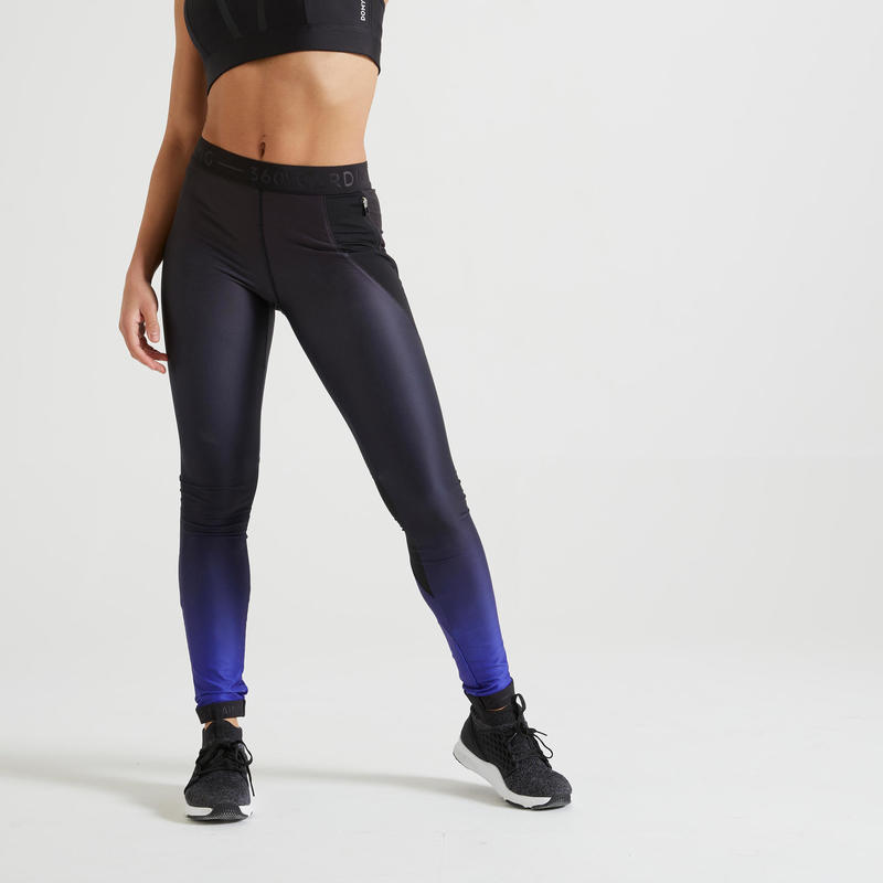 Fitness Leggings with Pocket - Ombre Blue