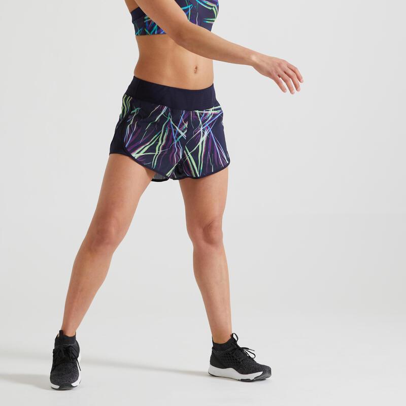 Wijde short voor fitness print