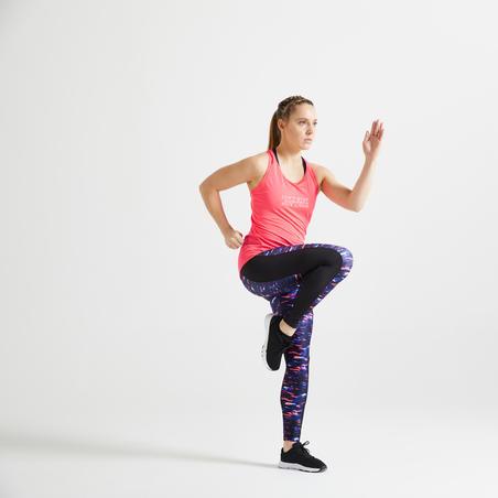 Women's Fitness Cardio Training Leggings 120 - Pink Print