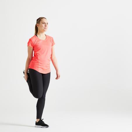 Футболка жіноча 120 для кардіофітнесу - Рожева