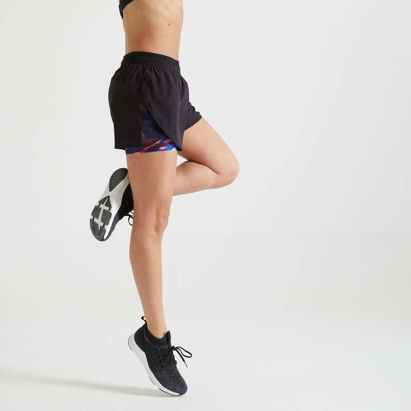 Fitnesz Cardio Női ruházat középhaladó Fitnesz - Női rövidnadrág FST 520 DOMYOS - Fitnesz ruházat és cipő