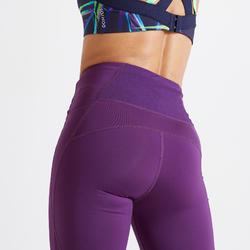 Legging fitness cardio training femme bordeaux 500A