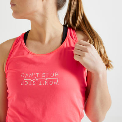 Long Fitness Tank Top - Pink