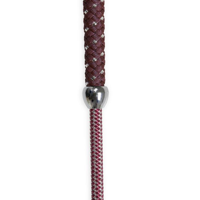 Dressurgerte 120 cm silber/bordeaux