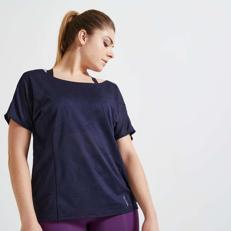 Fitnesz Cardio Női ruházat középhaladó Fitnesz - Női fitneszpóló FTS 500 DOMYOS - Fitnesz