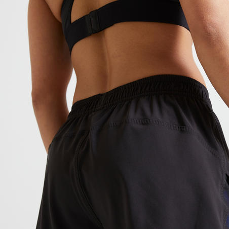 2-in-1 Anti-Chafing Fitness Shorts - Black