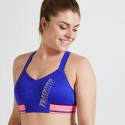 Women's Medium Support Fitness Sports Bra - Blue/Pink