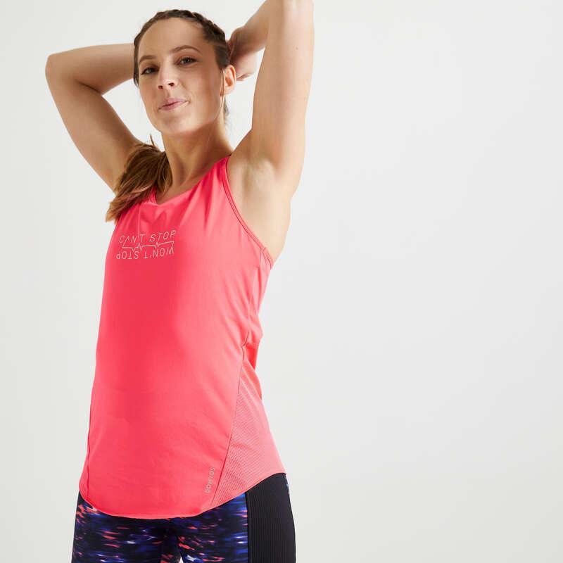 Fitnesz Cardio Női ruházat kezdő Fitnesz - Női ujjatlan felső FTA 120 DOMYOS - Fitnesz