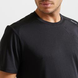 Technisch shirt voor fitness zwart