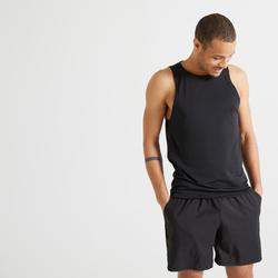 男款有氧健身訓練背心100 - 黑色