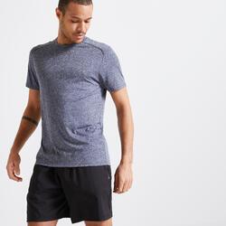 男款有氧健身訓練T恤100 - 灰色