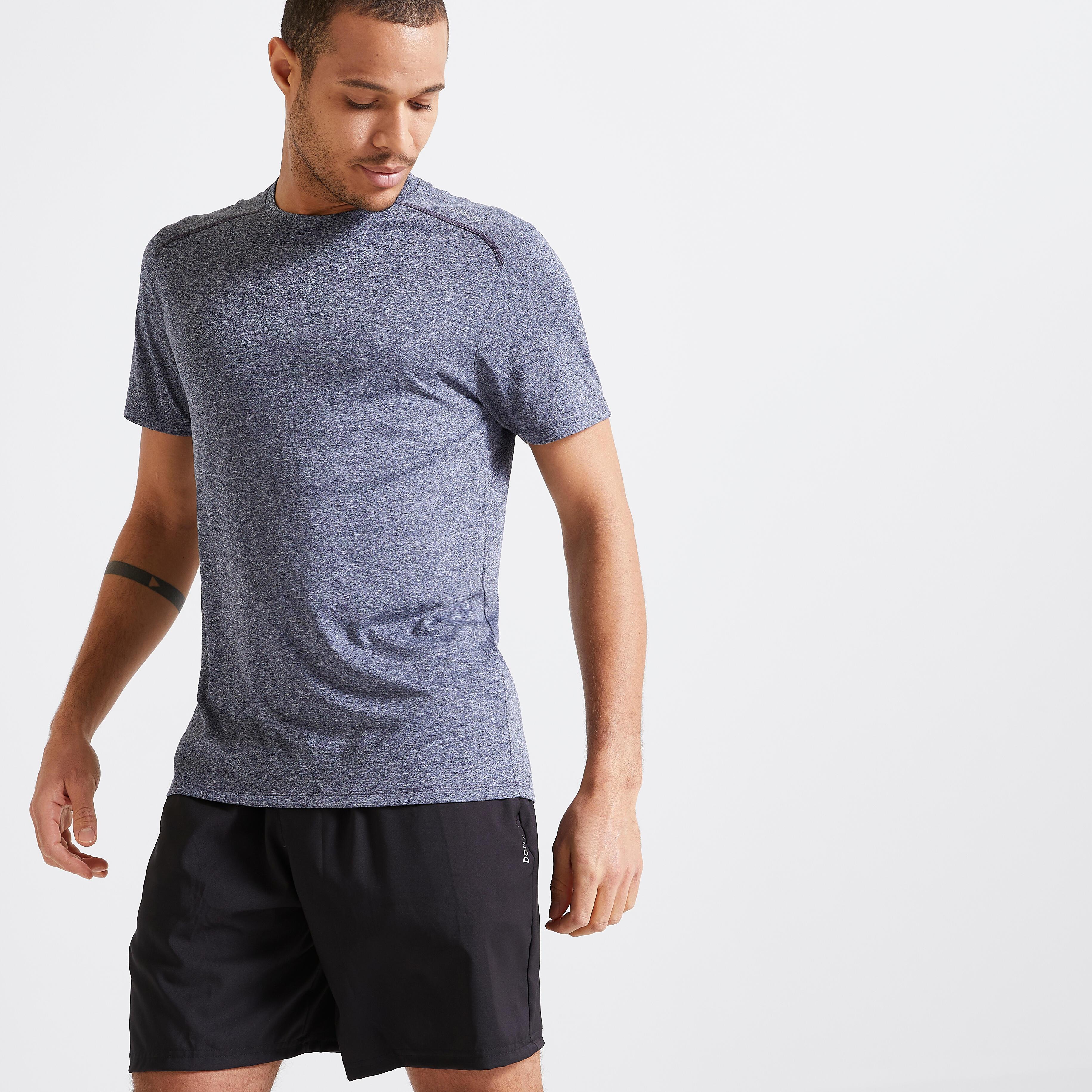 Tricou Fitness Cardio 100 gri la Reducere poza