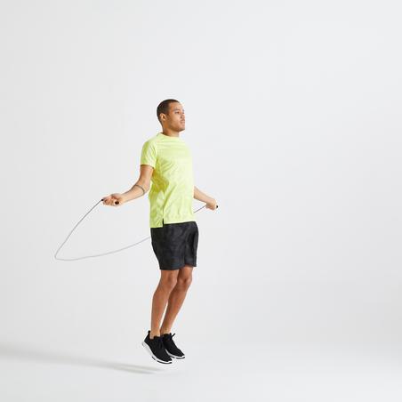 T-shirt fitness cardio-training homme jaune 120 éco-responsable