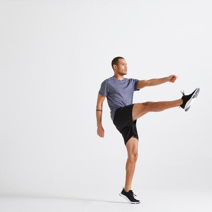 T shirt technique Fitness gris chiné