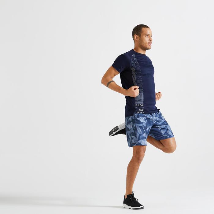 T-shirt Fitness Cardio Training homme bleu foncé 120 eco-responsable