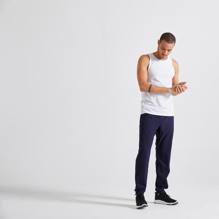 Pantalon fitness bleu marine éco-responsable