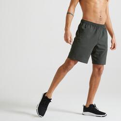 Short training fitness kaki uni éco-responsable