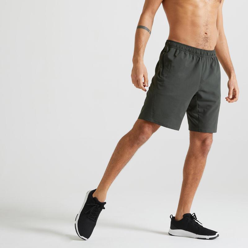 Short voor cardiofitness milieuvriendelijk kaki