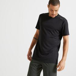Funktions-T-Shirt Fitness schwarz