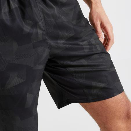 Short fitness cardio training hombre caqui negro camuflaje 120 eco-responsable