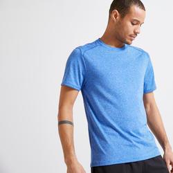 男款有氧健身訓練T恤100 - 藍色