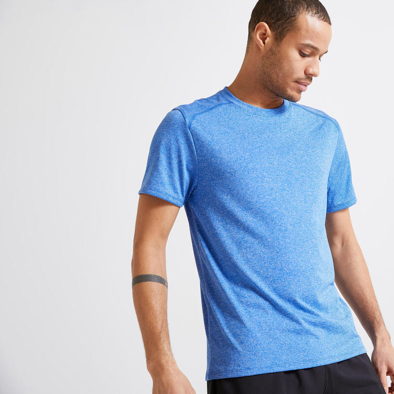 Men's Fitness Cardio Training T-Shirt 100 - Blue