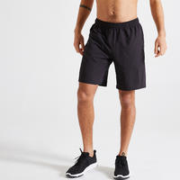 Short fitness cardio training negro hombre 120 eco-responsable