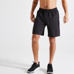 男款有氧健身訓練環保短褲120 - 黑色
