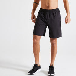 Men's Eco-Friendly Fitness Cardio Training Shorts 120 - Black