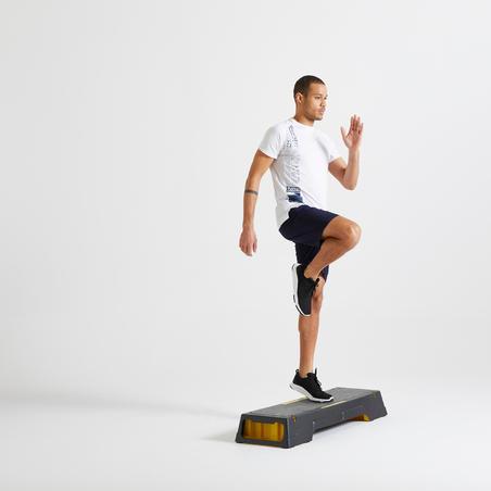 Men's Eco-Friendly Fitness Cardio Training T-Shirt 120 - White Print