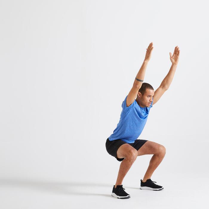 T-shirt Fitness Cardio Training homme bleu 100