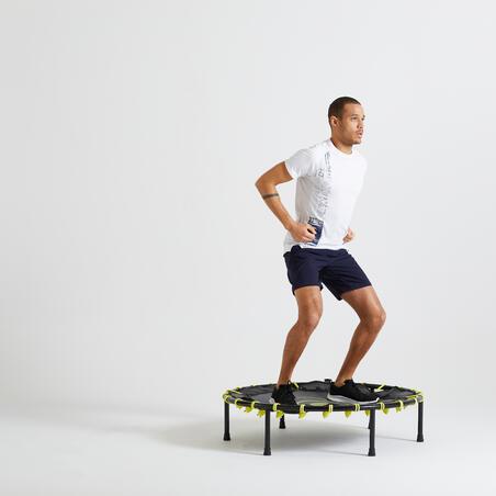 Short fitness cardio training azul marino hombre 120 eco-responsable