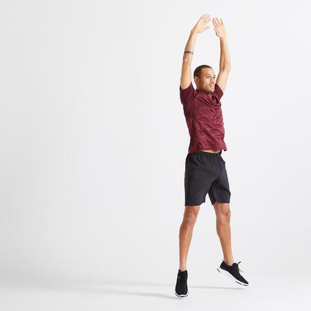 Fitness Training Shorts with Zippered Pockets - Plain Black