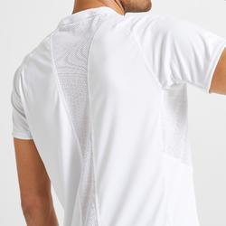女款有氧健身訓練環保T恤120 - 白色印花