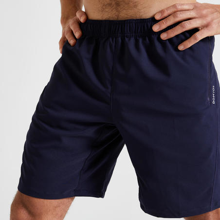 Eco-Friendly Fitness Training Shorts - Navy Blue