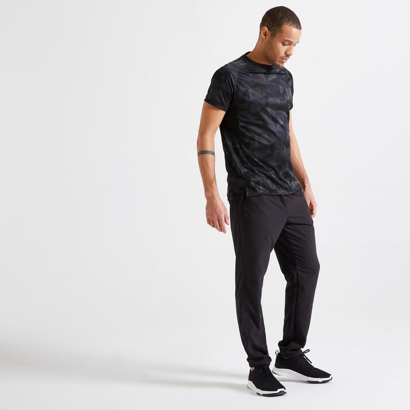 ชุดวอร์มผู้ชายเพื่อการออกกำลังกายแบบคาร์ดิโอที่เป็นมิตรกับสิ่งแวดล้อมรุ่น 120 (สีดำ)