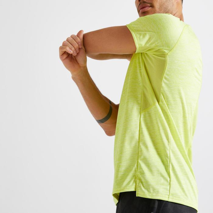 男款有氧健身環保T恤FTS 120 - 黃色