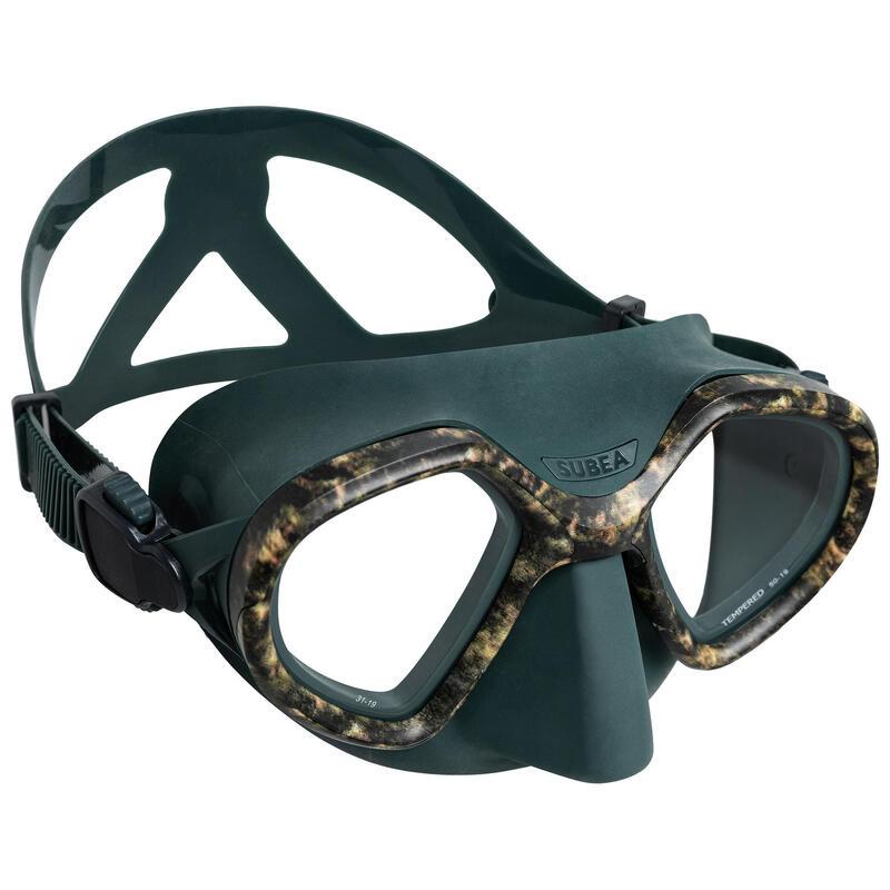 Masque de chasse sous-marine bi-hublot confirmé SPF 500