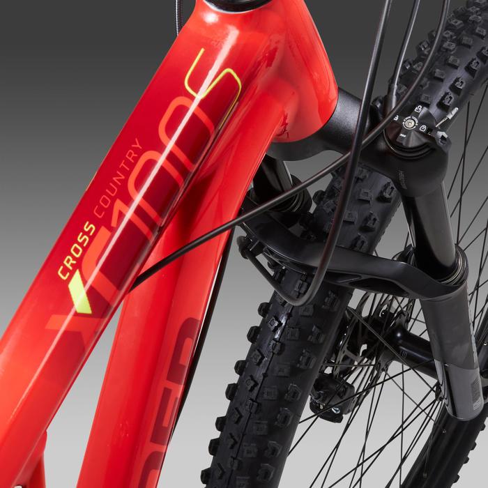 """Vélo VTT XC 100 S 29"""" EAGLE rouge et jaune"""